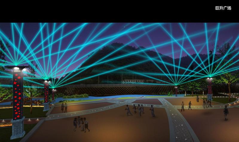 巨升廣場夜景照明規劃